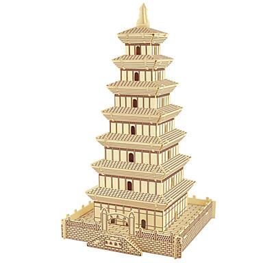 Puzzle Lemn Turn Clădire celebru Arhitectura Chineză Casă nivel profesional Lemn Crăciun An Nou Zuia Copiilor Fete Cadou