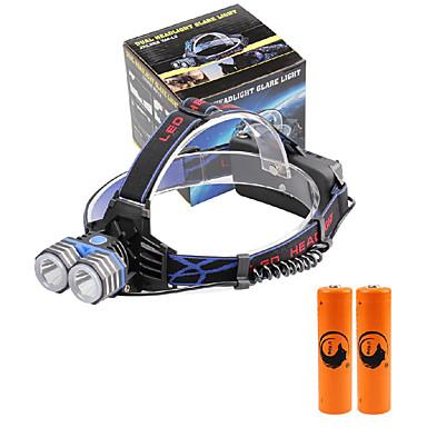 U'King Kafa Lambaları Far LED 2000 lm 3 Kip Cree XM-L T6 Piller ile Kompakt Boyut Acil mobil güç kaynağı Kolay Taşınır Yüksek Güçlü Çok