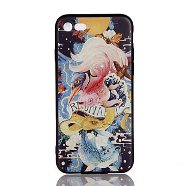 Varten Ultraohut Koristeltu Kuvio Etui Takakuori Etui Eläin Pehmeä TPU varten AppleiPhone 7 Plus iPhone 7 iPhone 6s Plus/6 Plus iPhone
