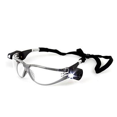 3m 11356 anti şok koruyucu gözlük ultraviyole geçirmez / sisli / ayarlanabilen el feneri ile