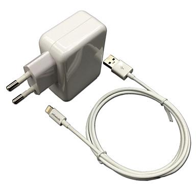 ce certificado eu cabo relâmpago certificada parede carregador de viagem 1a / 2.4a saída dupla + mfi maçã para iphone ipad ipod 6
