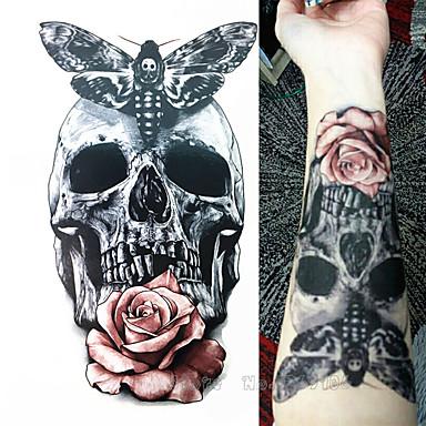 1 Pcs Los Tatuajes Temporales Impermeable 3d Braquio Pecho Papel