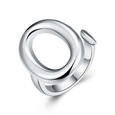 خاتم فضي نحاس تصفيح بطلاء الفضة يوميا فضفاض مجوهرات