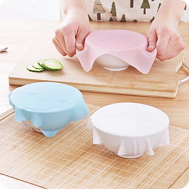 1kpl uusi monikäyttöinen silikoni saran wrap uudelleenkäytettäviä kelmulla jääkaappi ruoan säilytys kansi keittiö tyhjiö kansi