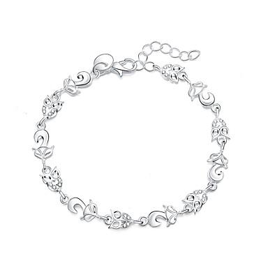 Kadın Tılsım Bileklikler Gümüş Kaplama imitasyon Pırlanta Moda Animal Shape Gümüş Mücevher 1pc