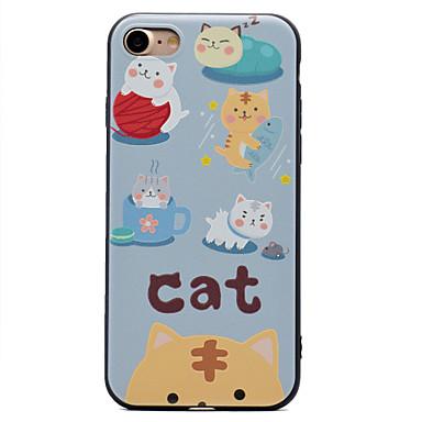 Etui Käyttötarkoitus Apple Kuvio Takakuori Kissa Pehmeä TPU varten iPhone 7 Plus iPhone 7 iPhone 6s Plus iPhone 6 Plus iPhone 6s iPhone 6