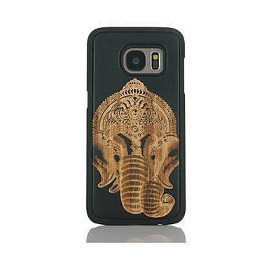 Etui Käyttötarkoitus Samsung Galaxy S7 edge S7 Kuvio Takakuori Elefantti Kova Bambu varten S7 edge S7 S6 edge S6