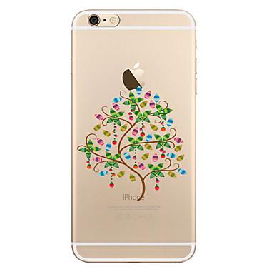 Etui Käyttötarkoitus Apple iPhone X iPhone 8 Plus Läpinäkyvä Kuvio Takakuori Puu Pehmeä TPU varten iPhone X iPhone 8 Plus iPhone 8 iPhone