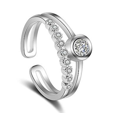 Pentru femei Placat cu platină Inel - Stilat Argintiu Inel Pentru Nuntă Petrecere Ocazie specială Party / Seara
