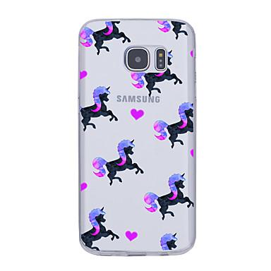 Etui Käyttötarkoitus Samsung Galaxy S7 edge S7 Ultraohut Kuvio Takakuori Yksisarvinen Pehmeä TPU varten S7 edge S7 S6 edge plus S6 edge