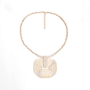 Dame Coliere cu Pandativ Bijuterii Geometric Shape Bijuterii Diamante Artificiale AliajLa modă Personalizat Euramerican bijuterii de lux