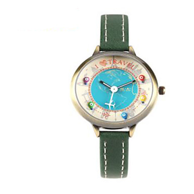 Kadın's Moda Saat Quartz / Deri Bant Günlük Kahverengi Yeşil