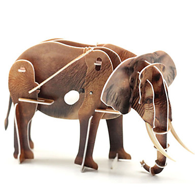 Puzzle 3D Puzzle Elefant Dinosaur 3D Animale Gril pe Kamado