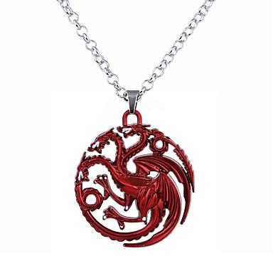 Męskie Damskie Naszyjniki z wisiorkami  -  Okragły Unikalny Logo Circle Shape Silver Czerwony Bronze Naszyjniki Na