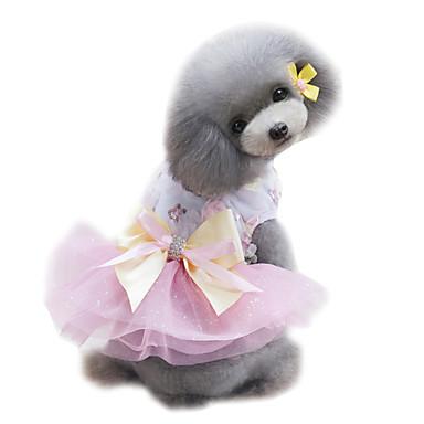 Σκύλος Φορέματα Smoching Ρούχα για σκύλους Γάμος Μοντέρνα Πριγκίπισσα Πράσινο Ροζ Μπλε Απαλό Στολές Για κατοικίδια