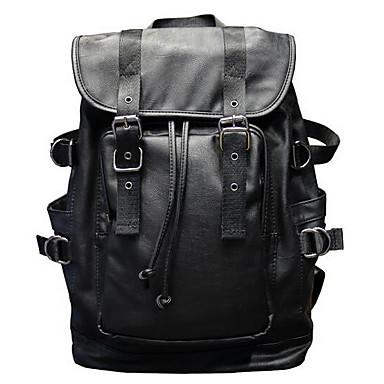 Άνδρες Τσάντες PU Τσάντα φορητού υπολογιστή για Causal Μαύρο