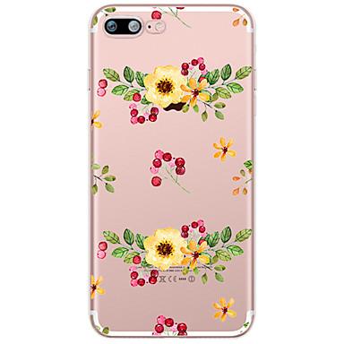 Kılıf Na Apple iPhone X iPhone 8 Plus Przezroczyste Wzór Etui na tył Kwiaty Miękkie TPU na iPhone X iPhone 8 Plus iPhone 8 iPhone 7 Plus