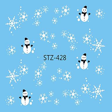 1pcs مسمار الشارات / عيد الميلاد نقل المياه ملصقا / عيد الميلاد الحلي / مسمار ملصقا تصميم فن الأظافر