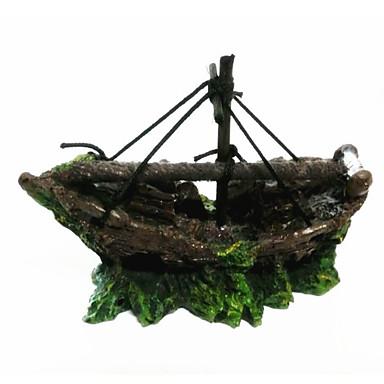 Decorațiune pentru Acvariu Ornamente Ne-Toxic & Fără Gust Resin Verde