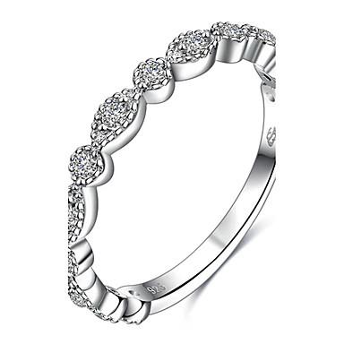 Naisten Kokosormen sormus Sormus Statement Ring Hopea Sterling-hopea Zirkoni Pyöreä Muuta Yksilöllinen Geometrinen Uniikki Euramerican