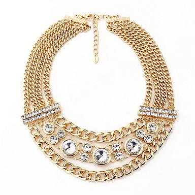 Kadın Açıklama Kolye Mücevher Mücevher Değerli Taş alaşım Moda Kişiselleştirilmiş Euramerican lüks mücevher Avrupa Altın Mücevher Için