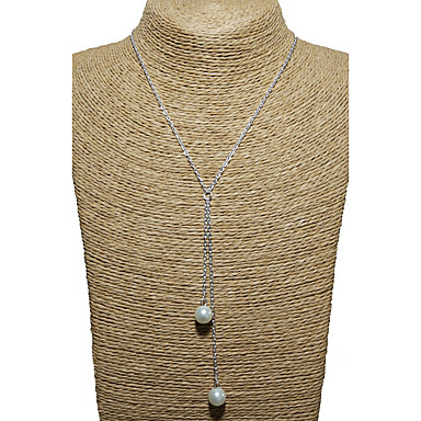 Damskie Pojedynczy Strand Unikalny Wiszący Multi-sposoby Wear Naszyjniki z wisiorkami Pearl imitacja Perłowy Imitacja pereł Stop