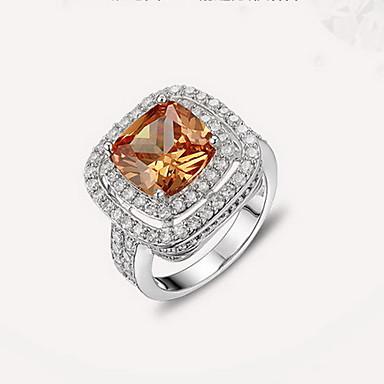 Δαχτυλίδι Ζιρκονίτης Cubic Zirconia απομίμηση διαμαντιών Μοντέρνα Ασημί Κοσμήματα Καθημερινά Causal 1pc
