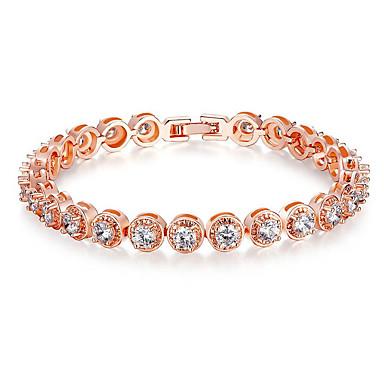 Damskie Bransoletki i łańcuszki na rękę Natura Modny Kryształ Cyrkon Cyrkonia Stop Round Shape Biżuteria Na Impreza Zaręczynowy