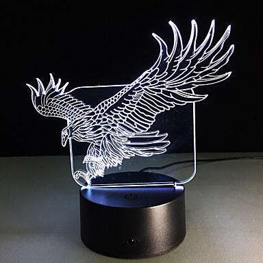 3d złudzenie bulding lampka nocna lampka ton doprowadziły kolory zmieniają rzeźby tabeli sztuki światła tworzy unikalny pies strusia ważka