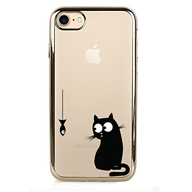 Maska Pentru Apple iPhone 7 Plus iPhone 7 Placare Capac Spate Pisica Moale TPU pentru iPhone 7 Plus iPhone 7 iPhone 6s Plus iPhone 6s