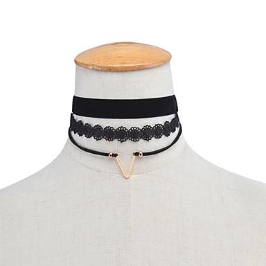 نساء قلادات ضيقة مجوهرات دانتيل سبيكة شخصية أوروبي موضة euramerican في متعدد الطبقات مجوهرات من أجل يوميا فضفاض