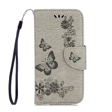 Etui Käyttötarkoitus Huawei Honor 5C Huawei Korttikotelo Lomapkko Tuella Flip Kuvio Koristeltu Suojakuori Perhonen Kova PU-nahka varten