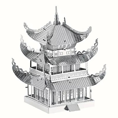 3D Puzzles Jigsaw Puzzle Metal Model Building Kit DIY Famous Buildings Chinese Architecture