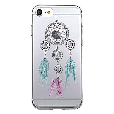 Etui Käyttötarkoitus Apple Ultraohut Läpinäkyvä Kuvio Takakuori Uni sieppari Pehmeä TPU varten iPhone 7 Plus iPhone 7 iPhone 6s Plus