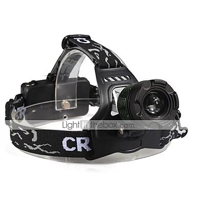 U'King Φακοί Κεφαλιού Μπροστινό φως LED 2000 lm 3 Τρόπος Cree XM-L T6 Zoomable Μικρό Μέγεθος Εύκολη μεταφορά High Power Πολυλειτουργία