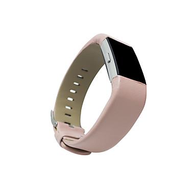 Watch Band için Fitbit Charge 2 Fitbit Klasik Toka Deri Döngü Metal Deri Bilek Askısı
