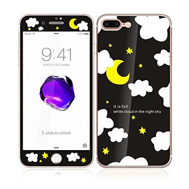 iPhone 7 plus 5,5 karkaistua lasia pehmeällä reunalla koko näytön kattavuuden edessä ja takana näytön suojus kuu tähdet kuvio