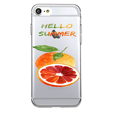 إلى نحيف جداً شفاف غطاء غطاء خلفي غطاء فاكهة ناعم TPU إلى Apple فون 7 زائد فون 7 iPhone 6s Plus iPhone 6s iPhone SE/5s