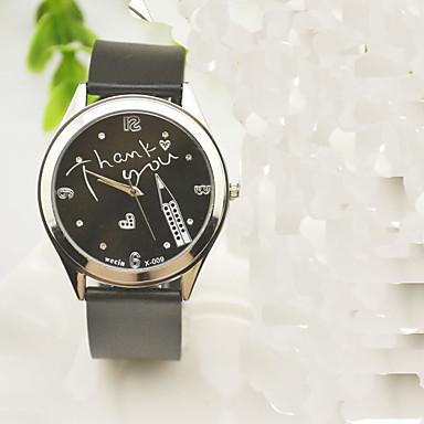 Pentru femei Ceas La Modă Quartz Ștras imitație de diamant Silicon Bandă Charm Casual Ceas Global Negru