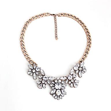 Damskie Naszyjniki choker Biżuteria Biżuteria Kamień szlachetny Kryształ Stop Modny Osobiste euroamerykańskiej Europejski Kwiaty Biżuteria
