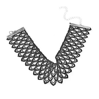 Damskie Naszyjniki choker Oświadczenie Naszyjniki Koronka Wyrazista biżuteria Europejski Modny Osobiste euroamerykańskiej Biżuteria Na