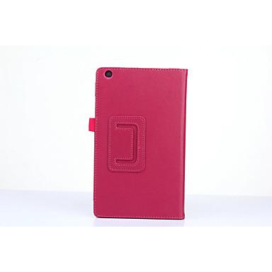 PU Deri Tek Renk Tablet Kılıfları Lenovo 8