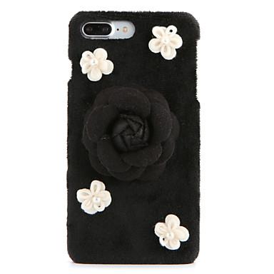 Kılıf Na Apple iPhone 7 Plus iPhone 7 Stras DIY Czarne etui Kwiaty Twarde Włókienniczy na iPhone 7 Plus iPhone 7 iPhone 6s Plus iPhone 6s