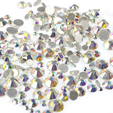 400-500pcs/bag Εργαλεία & Αξεσουάρ Κοσμήματα νυχιών Τεχνητό διαμάντι Μοντέρνα Glitter & Sparkle Φανταχτερό Γάμος Στυλ κρυστάλλου /