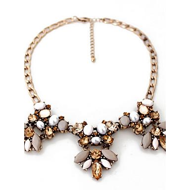 Kadın's Açıklama Kolye İnci Kişiselleştirilmiş Lüks Avrupa Moda Kahverengi Kolyeler Mücevher Uyumluluk Parti Özel Anlar Nişan / Değerli Taş