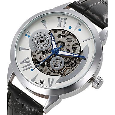 Ανδρικά μηχανικό ρολόι Ρολόι Καρπού Διάφανο Ρολόι Ρολόι Φορέματος Μοδάτο Ρολόι Αθλητικό Ρολόι Αυτόματο κούρδισμα Γνήσιο δέρμα Μπάντα