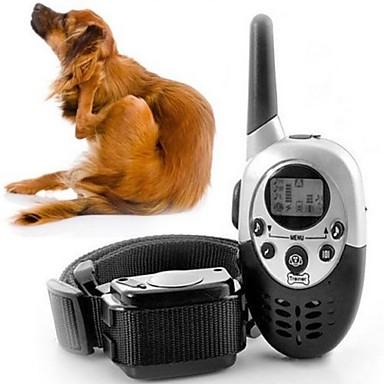 قط كلب ياقات تدريب الكلاب قابل للسحبقابل للتعديل التحكم عن بعد /كهربائيإلكتروني تدريب اهتزاز سادة بلاستيك أسود
