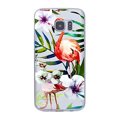 Kılıf Na Samsung Galaxy S7 edge S7 Ultra cienkie Wzór Etui na tył Kwiaty Miękkie TPU na S7 edge S7 S6 edge plus S6 edge S6 S5