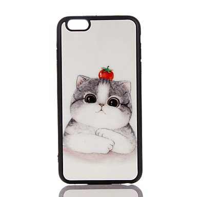 Pouzdro Uyumluluk Apple Ultra İnce Arka Kılıf Kedi Yumuşak TPU için iPhone 7 Plus iPhone 7 iPhone 6s Plus iPhone 6 Plus iPhone 6s iphone 6