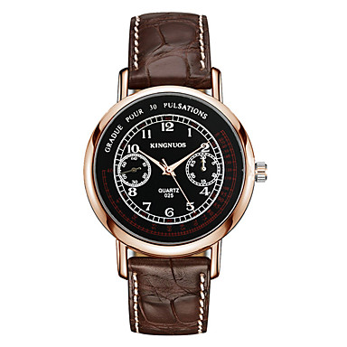 Męskie Modny Zegarek na nadgarstek Kwarcowy Skóra Pasmo Nowoczesne Na co dzień Czarny Brązowy